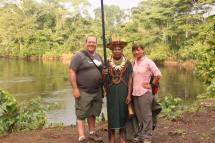 Indigenous tribe's Shaman of the Ecuador's Amazon River